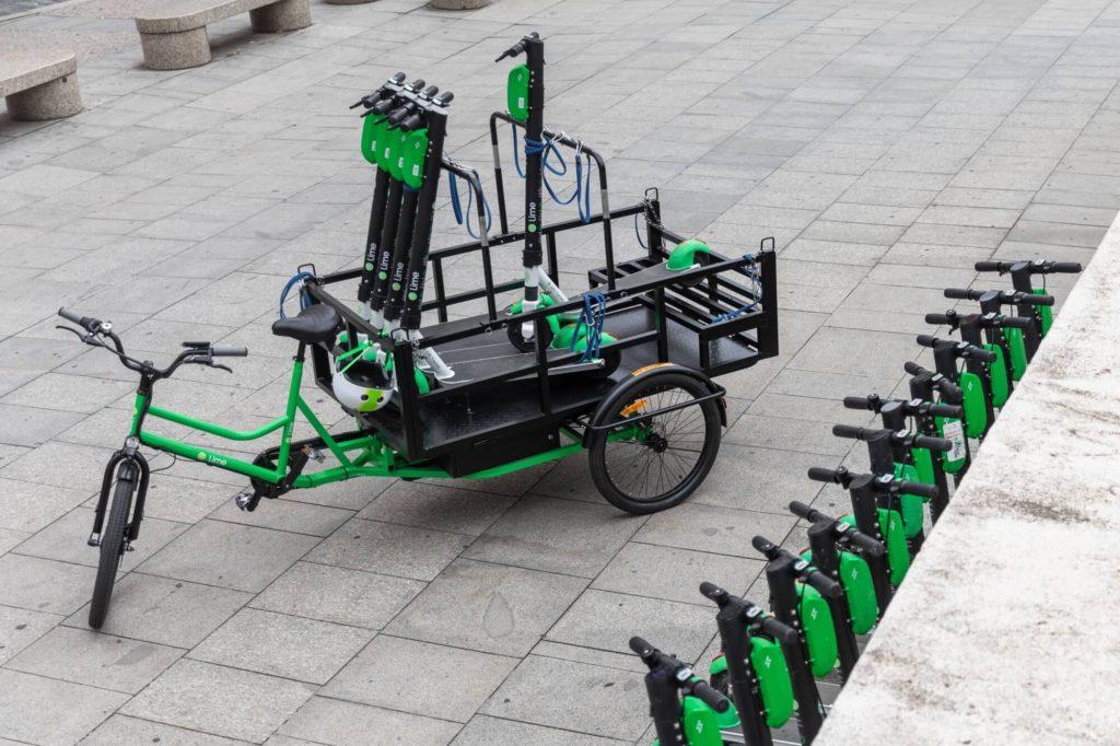 Lime rowery towarowe