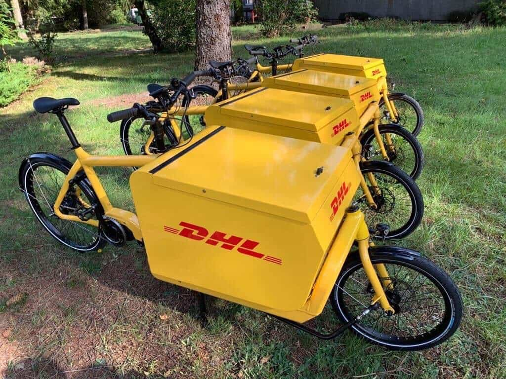 Rowery cargo DHL