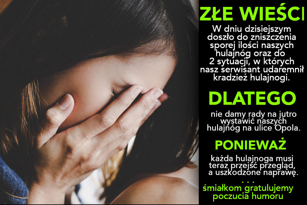 Conaga hulajnogi Opole - post Facebook