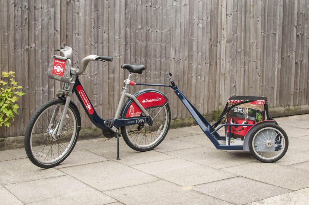 Przyczepka rowerowa bikesharing