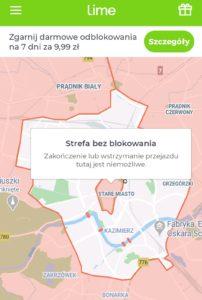 Hulajnogi Lime - Kraków