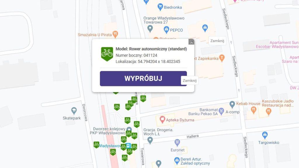PKP rowery Władysławowo