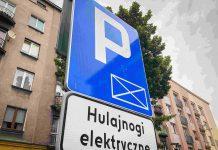 Elektryczne hulajnogi - parkowanie - Sosnowiec