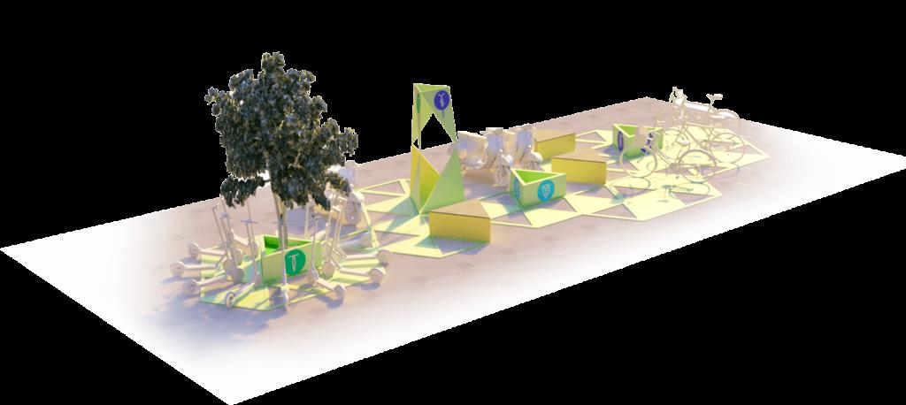 Hub Mobilności - Służewiec - wizualizacja