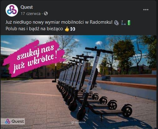 Quest - elektryczne hulajnogi w Radomsku