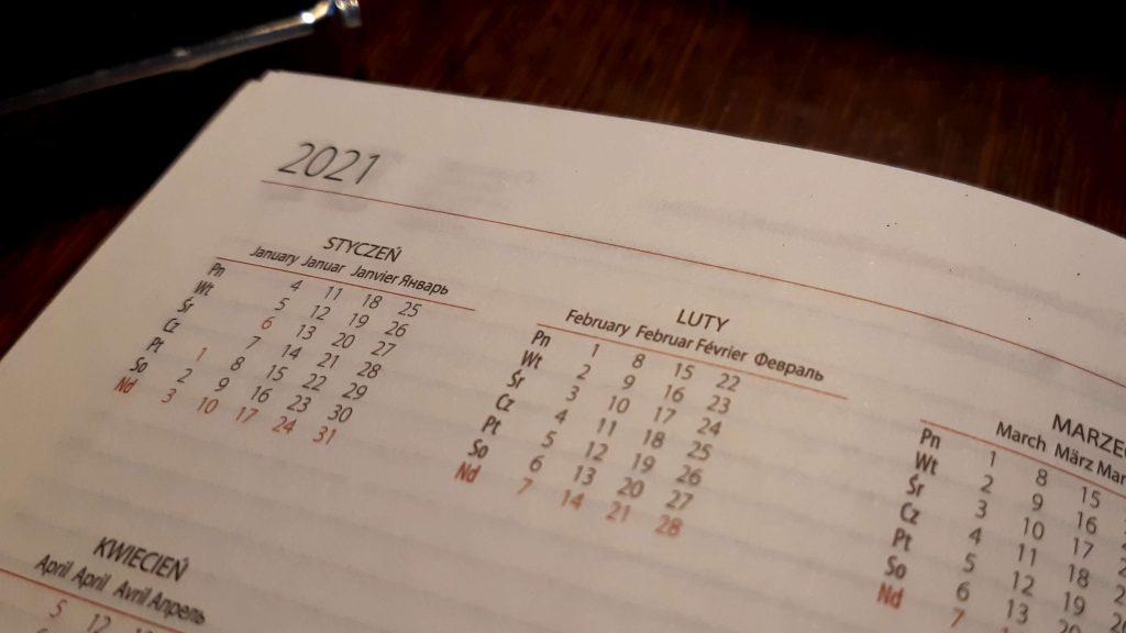 Kalendarz - zima 2021
