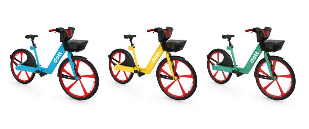 Elektryczny rower Dott - wizualizacja