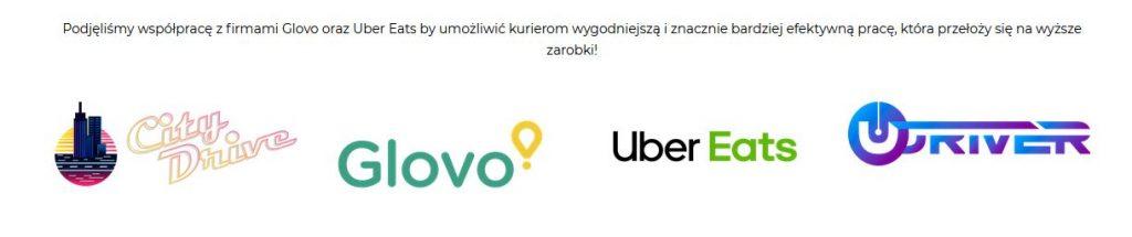 Screenshot: oferta blinkee dla kurierów chcących obsługwać restauracje w sieciach food delivery