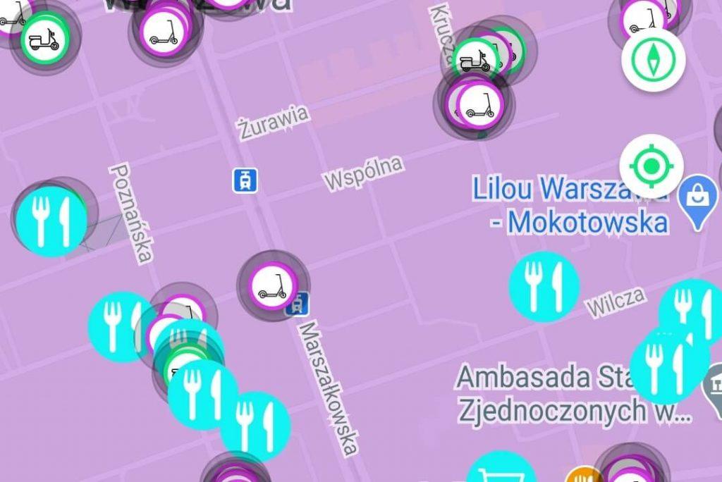 Warszawa: restauracje na mapie blinkee