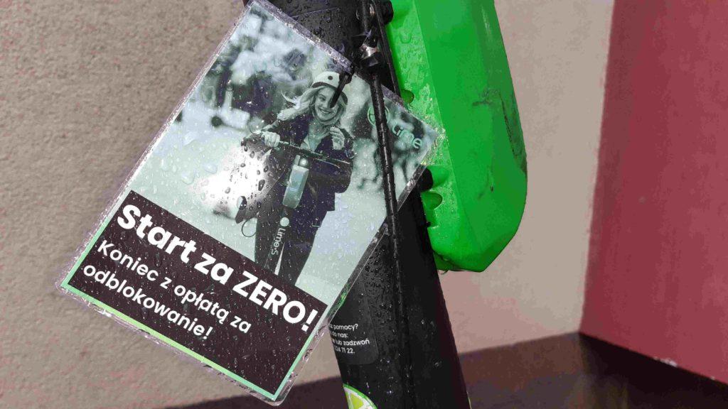 """Opłata startowa """"za odblokowanie"""" zniknęła z cenników Lime w Polsce"""