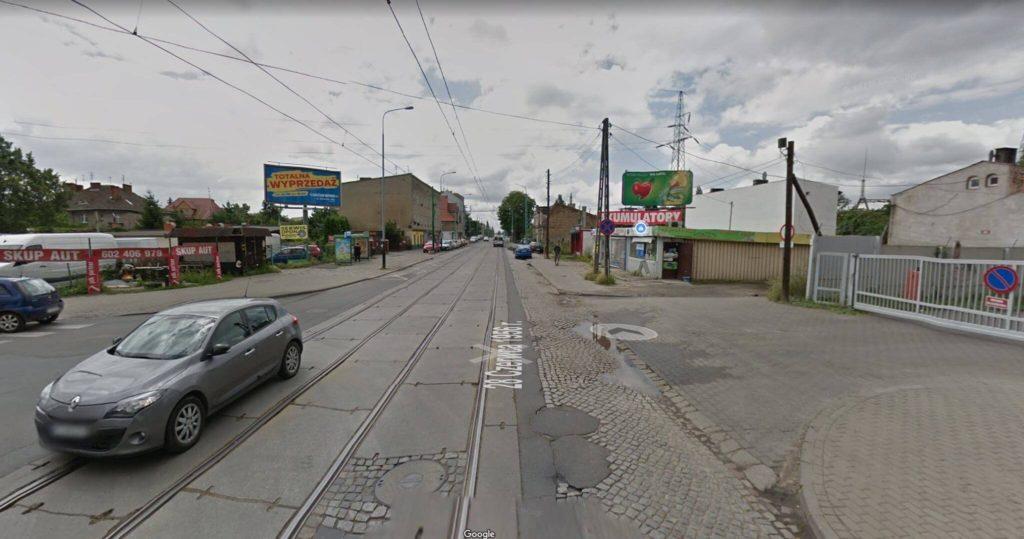 Ulica w Poznaniu - niekomfortowa dla hulajnogi