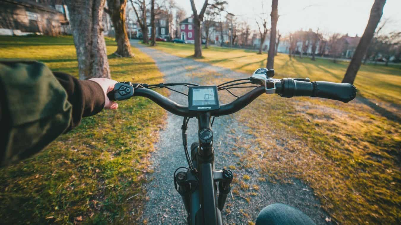 Rower elektryczny - ekran