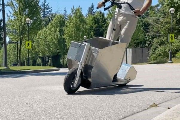 Elektryczna hulajnoga cargo - Scootility. Prototyp